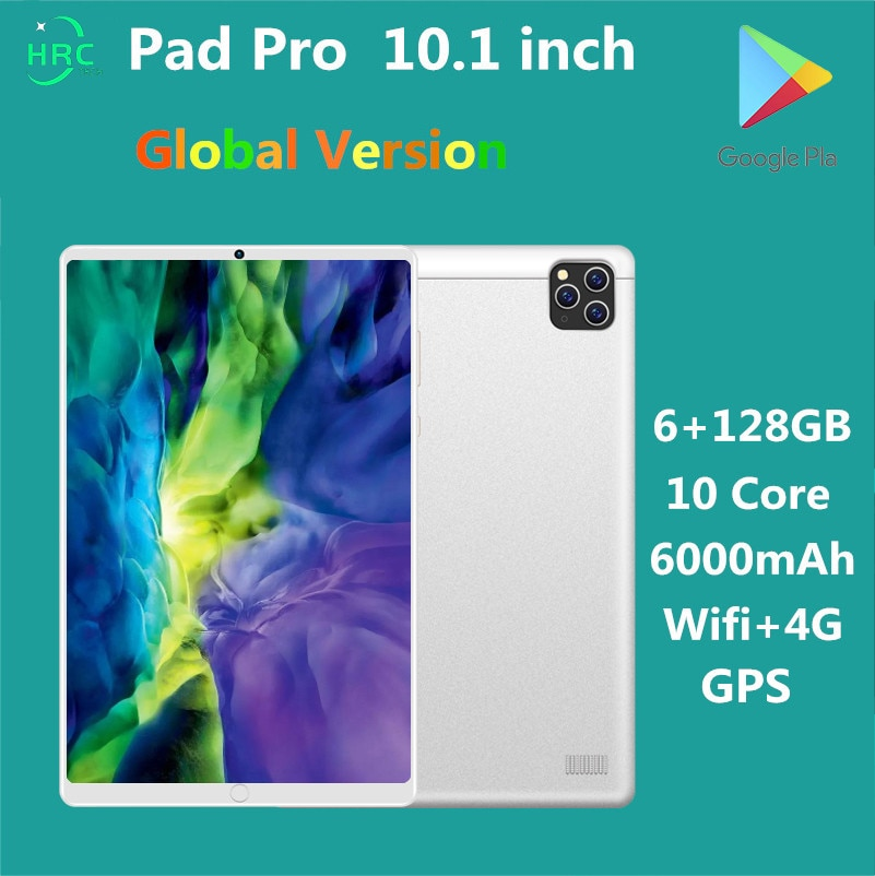 Pad Pro Tablets 10 .1 inch 6GB RAM 128GB ROM tablet Android 10.0  tablete 4G LTE phonecall tablets 6