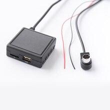 Biurlink Auto 3,5mm Jack Aux USB Adapter Bluetooth 5,0 Musik Adapter Mikrofon Freisprecheinrichtung für JVC Alpine CD KS-U58 PD100 u57 U29