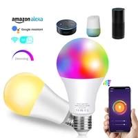 Ampoule LED intelligente 2500K     6500K  blanc  variable  fonctionne avec Alexa Google Assistant  2 4GHz  WiFi  800LM  E27  A19  10W  pour maison