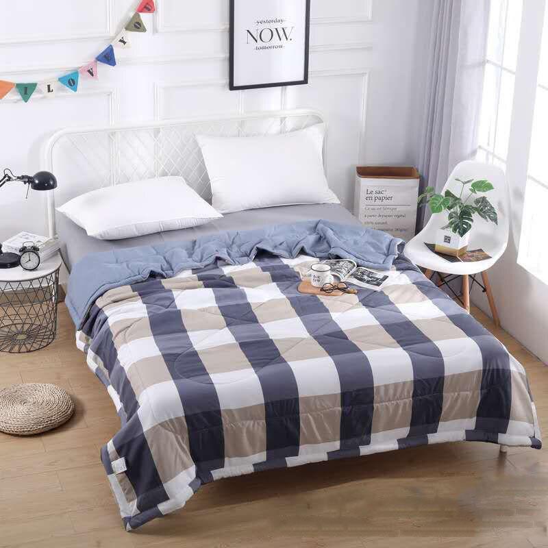 لينة لحاف صيفي تكييف الهواء رقيقة كومفورتر مبطن Bedsrpead ل مزدوجة الملكة سرير حجم كينج منقوشة البطانيات غطاء السرير الفراش