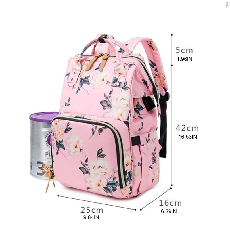 Diaper Bag Backpack Large Baby Bag Multi-functional Travel Back Pack Waterproof Maternity Nappy Bag Changing Bags with Insulated