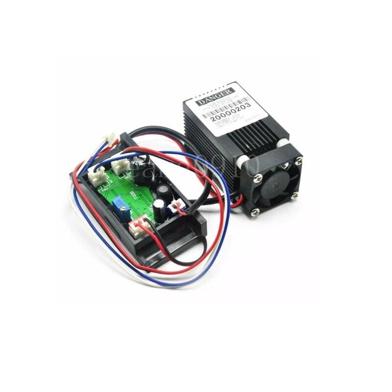 12 В 635 нм 638 нм 100 мВт оранжевый красный лазер диод модуль с драйвером платой и охлаждением вентилятором 33x50 мм