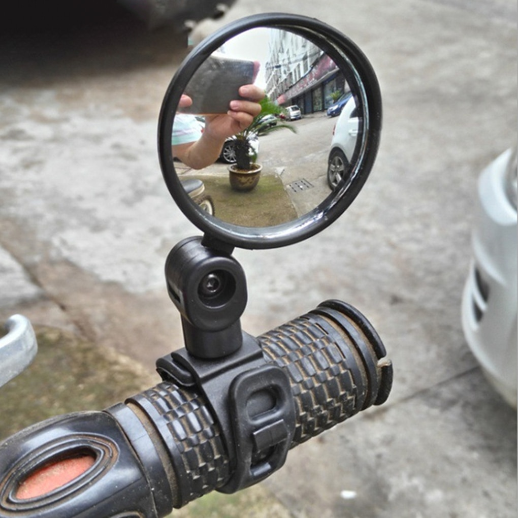 1 pair cycling bicycle rear view mirror flexible handlebar end mirror aluminum alloy lens safety side bike rearview accessories Mini 360 Degrees Adjustable Bike Rearview Mirror Bike Bicycle Handlebar Flexible Safe Rearview Rear View Mirror Rotate Cycling