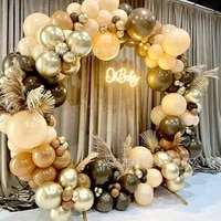 102114pcs coffee color balloons garlands retro gold birthday ballon wedding happy birthday party decor kids balon baby shower