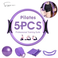 125pcs yoga pilates circle yoga ball magic ring yoga block stretch band resistance bands fitness workout fitness accessories
