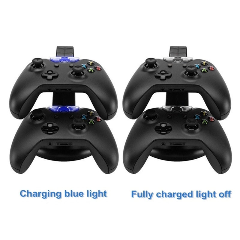 LED Dual USB Charging Charger Dock Stand Cradle Docking Station For -XBOX ONE S X SLIM Game Gaming Console Controller enlarge