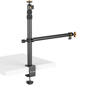 VIJIM LS01 продлить светильник стенд 90 см Настольный светильник крепление на клейкой съемный Ballhead 1/4 винт для светодиодный видео светильник