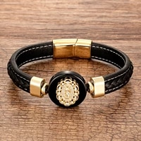 new virgin mary bracelets for women round natural stone mens bracelets gold christian jewelry rope chain bangles
