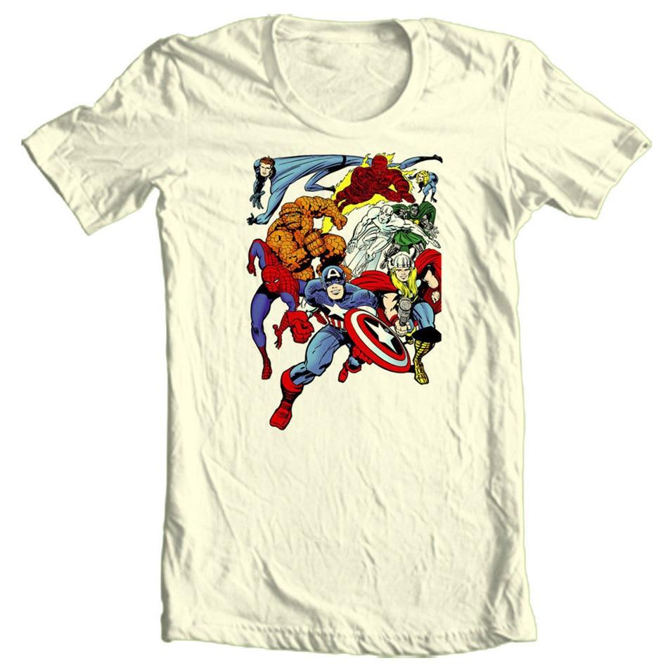 Camiseta MARVEL Comics Silver Surfer superhero Capt America algodón gráfico Unisex hombres mujeres Tops camiseta