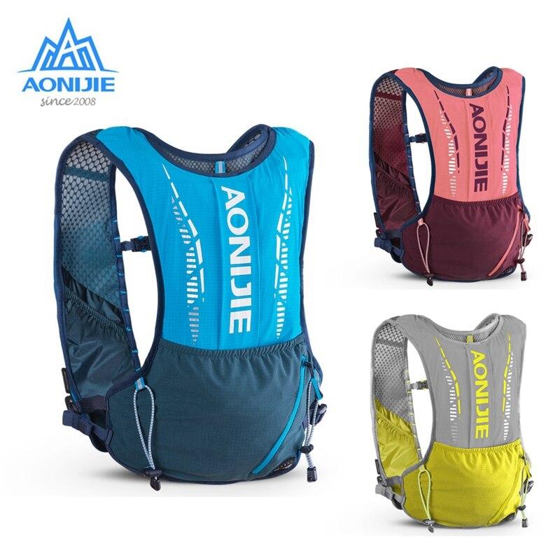 Mochila de hidratación para exterior AONIJIE 5L, chaleco deportivo, bolsas para correr ultraligeras, frasco de agua suave gratis para Camping senderismo ciclismo C9102