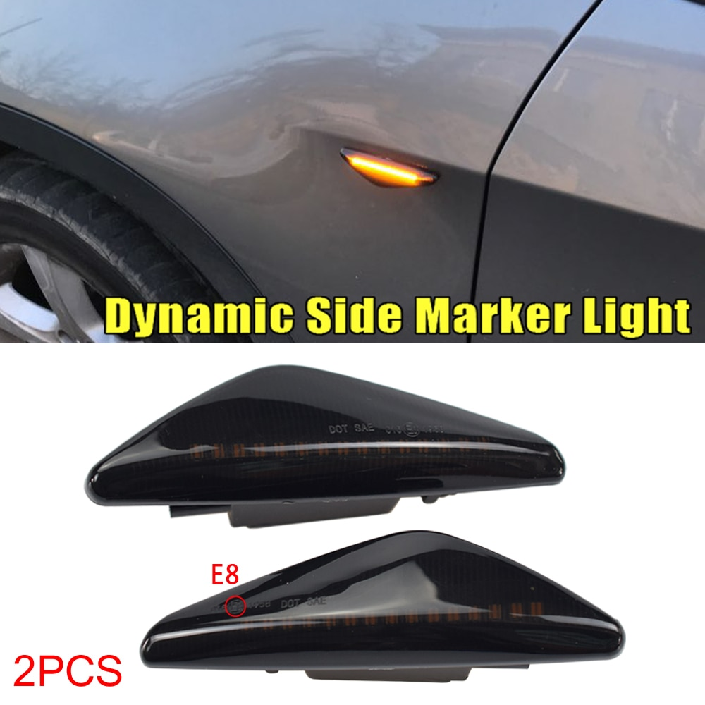Para BMW X3 F25 X5 E70 X6 E71 E72 2008-2014 luz LED dinámica de señal de giro guardabarros lateral marcador de luz intermitente secuencial