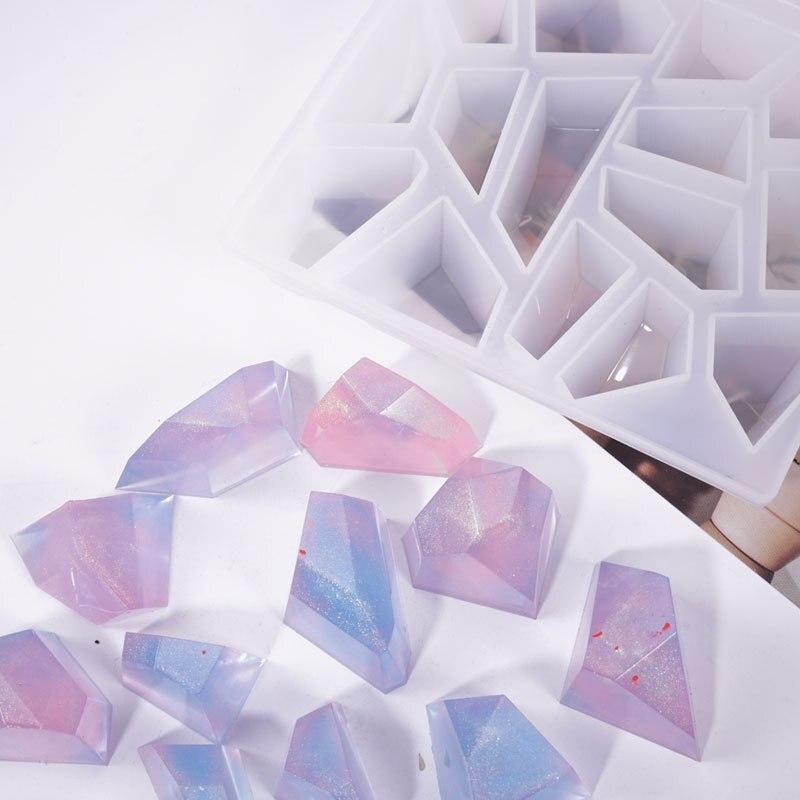 3d cristal irregular pedra silicone molde para resina epóxi jóias fazendo diy artesanato