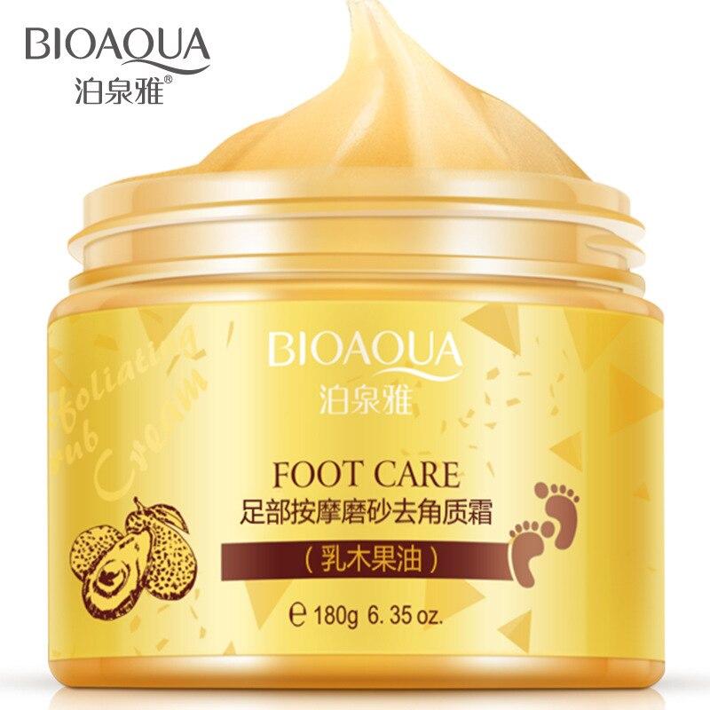 BIOAQUA 180g Foot Massage Scrub Exfoliating Cream Repai Rough Skin Whitening Smooth Moisturizing Ant