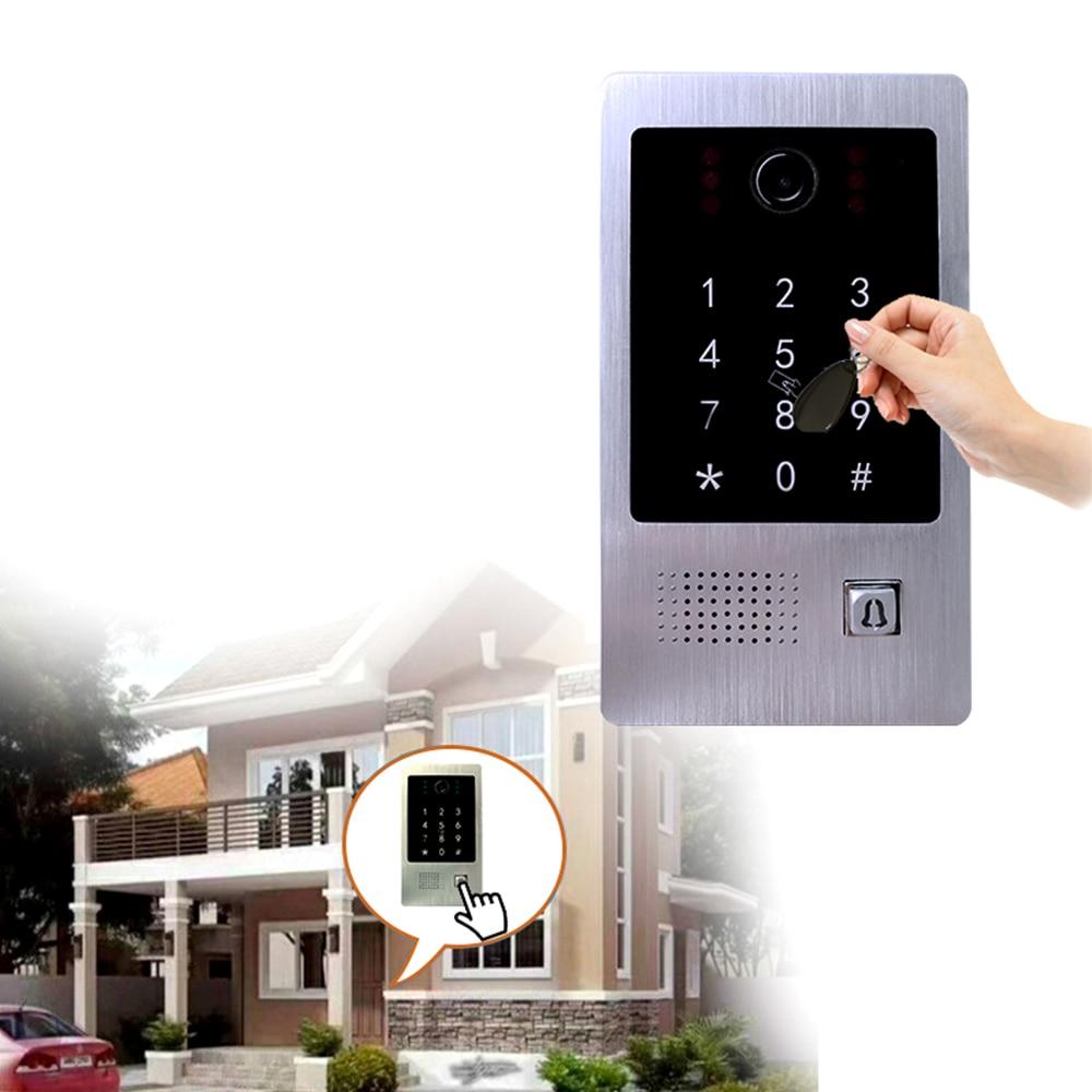 Jeatone WIFI Tuya IP Video intercom for Apartment SET Wireless call 7 Inch Wired Doorbell Camera 1.0M Password/RFIC Unlock POE enlarge