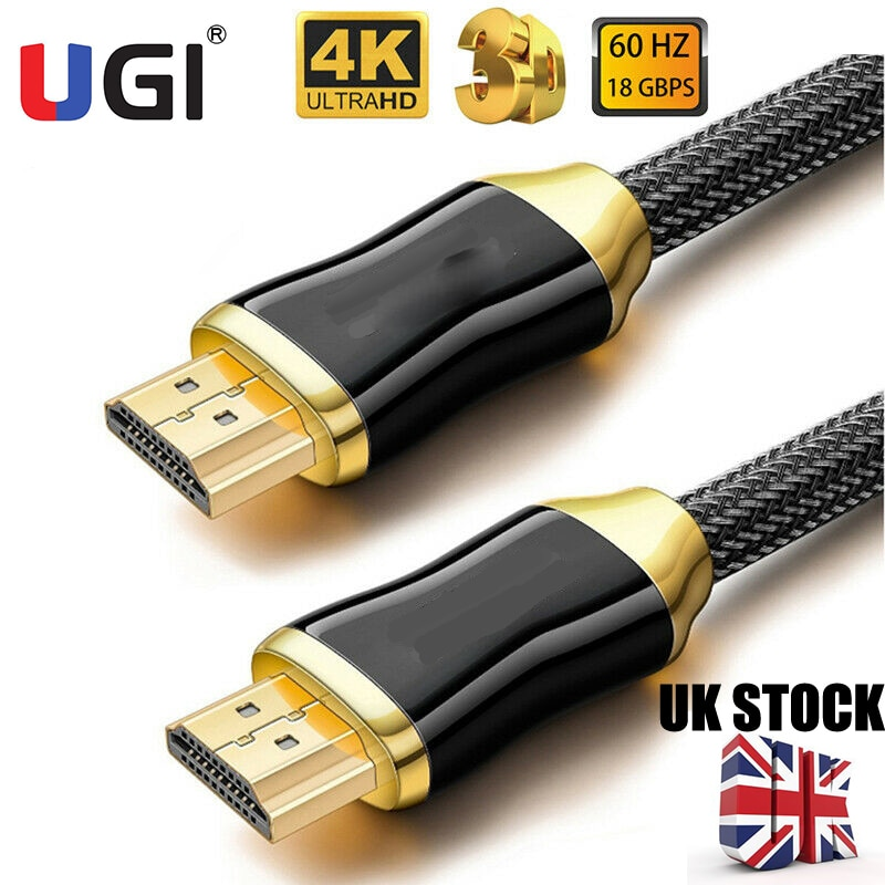 UGI 4K 2K 1080P HDMI Cable HD FHD de alta velocidad v2.0...