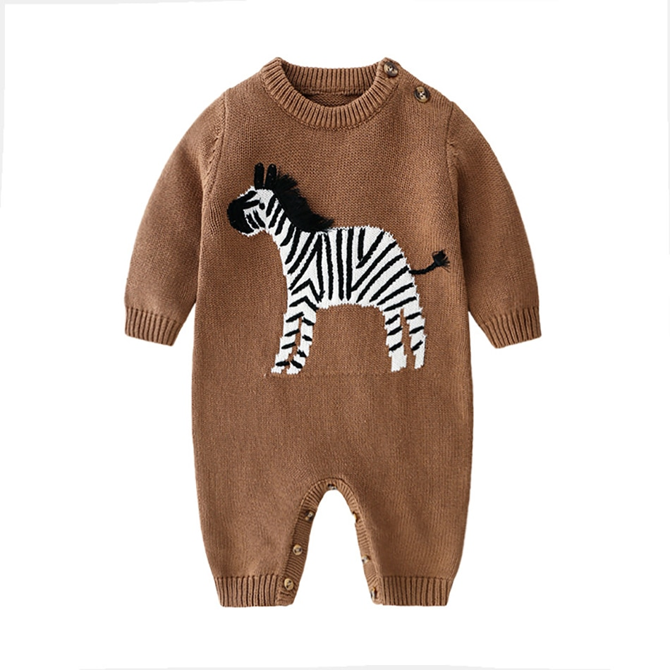 Winter Baby Boys Girls Knit Color Rompers Clothes Children 2020 New Baby Boy Girl Infant Kids Knitti