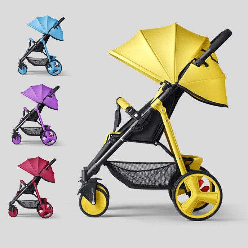 SLD عربة أطفال خفيفة الوزن محمولة قابلة للطي سيارة أطفال حديثي الولادة عربة أطفال للسفر عربة أطفال على إطار فولاذي عجلات إيفا