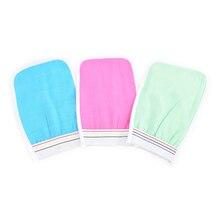 Soft Exfoliating Wash Skin Spa Bath Glove Bubble Bath Flower Small Rub Cloth scrub mitt   peeling glove