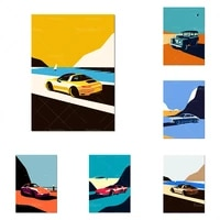 art car racing canvas painting poster wall art picture painting wall art cuadros living room home decor