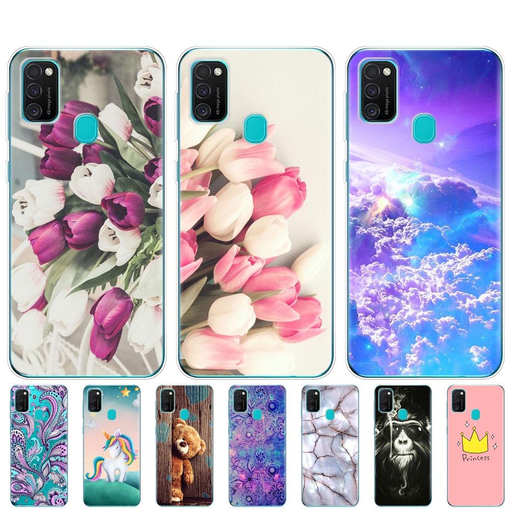 Para Samsung M21 Funda de 6,4 pulgadas de silicona suave Tpu para Samsung Galaxy M21 M 21 SM-M215FZGUSER m215 carcasa trasera de teléfono