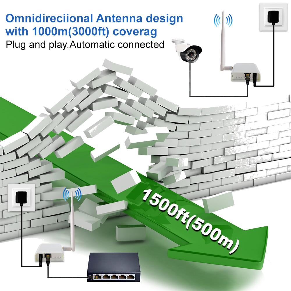Wireless Bridge Point to Point Long Range Wireless Access with 20DBi High-Gain Antenna,100Mbps 2.4G WiFi Bridge enlarge