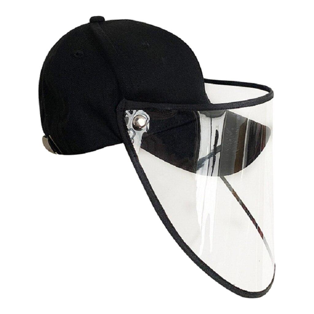 Mujeres Hombres Anti-spitting Hat extraíble funda transparente Anti-Saliva gorra de béisbol máscara gorras de ciclismo para ciclismo