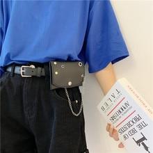 with Bag Women's Thin Belt Decoration Pannier Bag Fashion All-Match Punk Small Waist Bag Hipster Bel