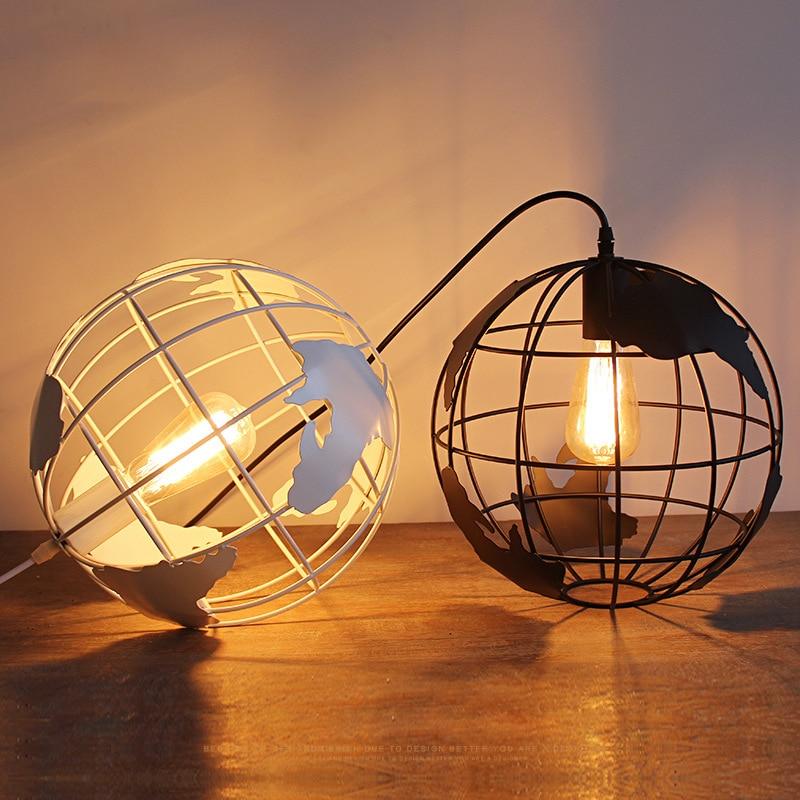 الشمال مصباح معلق كروي تركيبات الإبداعية مصباح السقف الصناعية خمر ديكور المنزل ل Loft غرفة الطعام بار مقهى مطعم