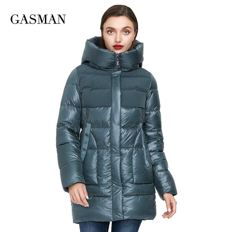 جاسمان 2021 جديد بيج طويل دافئ أسفل سترة المرأة الشتاء سترة معطف المرأة موضة مجموعة أبلى الإناث سترة أنيقة 008
