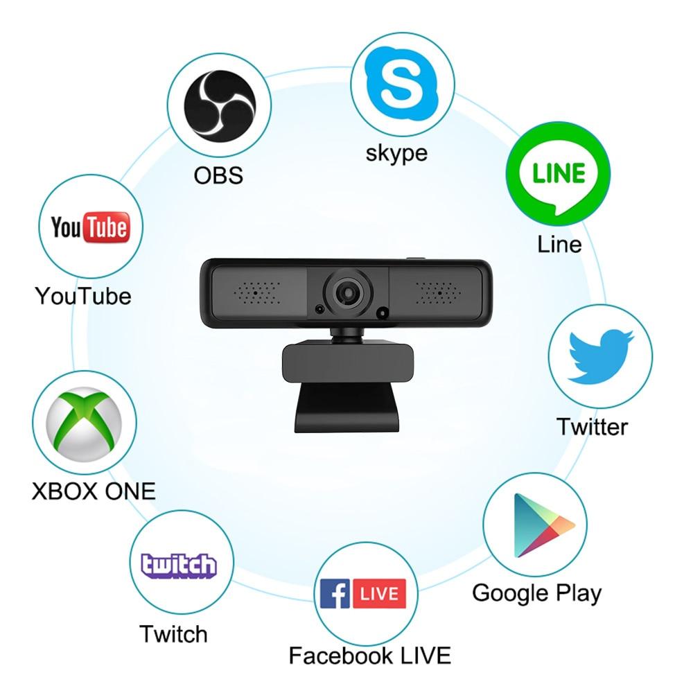 Autofocus Webcam 2k 1080p Camera HD Network USB Live Broadcast Driver-free Laptop Computer Web Cam Camera Microphone enlarge