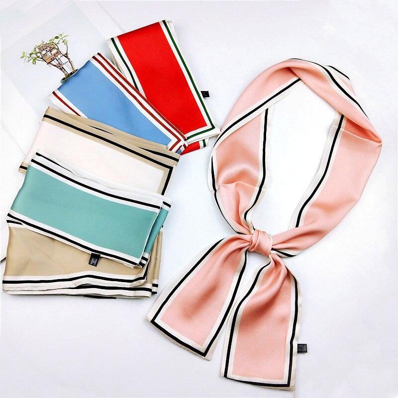 2020 nuevo coreano lindo elegante flaco bufanda de flor diadema estampada pulsera bufandas para mujer bolsos bufandas