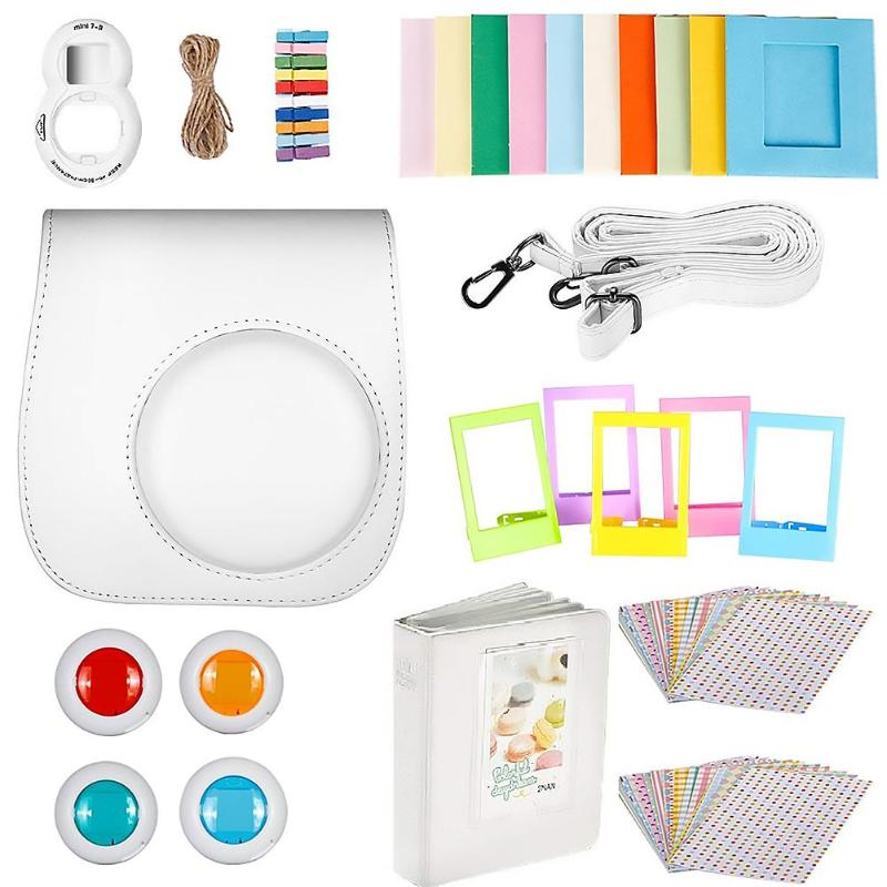 9-piezas para Fuji Polaroid Cámara Instax Mini 8 / 8S / 9 Set de accesorios Polaroid para Instax Mini 8 / 8 + o Mini 9 usuarios
