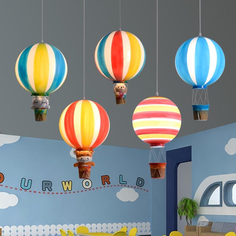الشمال الإبداعية الملونة مصابيح بالون الهواء الساخن مطعم بار غرفة الأطفال رياض الأطفال ملعب الديكور الثريات