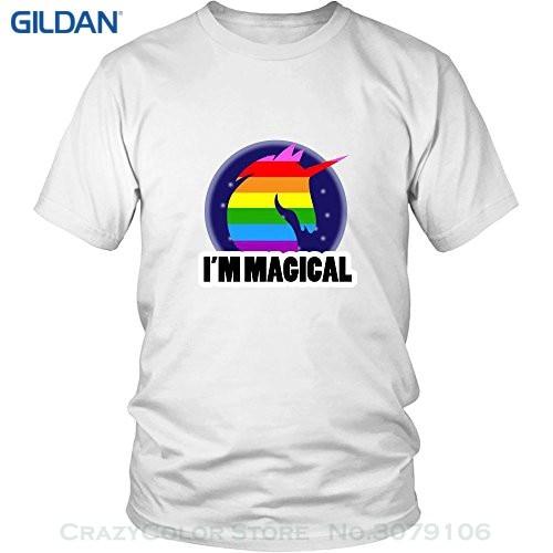 O-neck Tshirt Homme Lgbt Im magiczna koszulka jednorożca 5.3 Oz bawełna wygodny krój mężczyźni kobiety Unisex