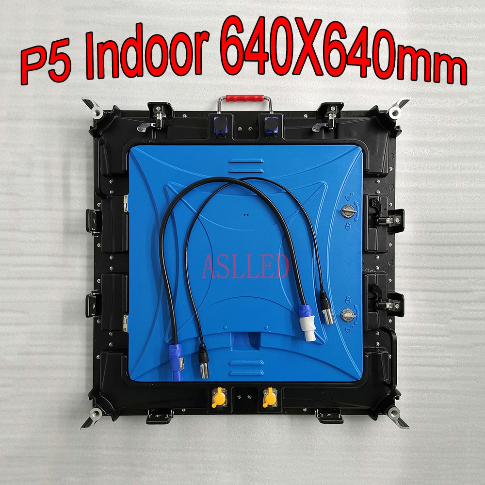 شاشة LED داخلية كبيرة للإعلانات ، P5 HD ، Full Color ، 640X640mm ، علامة خزانة من الألومنيوم المصبوب ، Ali Express ، شحن مجاني