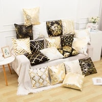 1pc bronzing pillowcase 45x45cm bedroom home european classic sofa cushion cover for sofa bedroom pillowcase pillows decor home