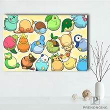 Toile tissu tissu affiche personnalisée Pokemon impression soie tissu décor à la maison Poste @ 181205-06-296