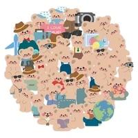 103050pcs korea ins wind cartoon travel bear christmas waterproof car apple mobile phone case luggage waterproof sticker