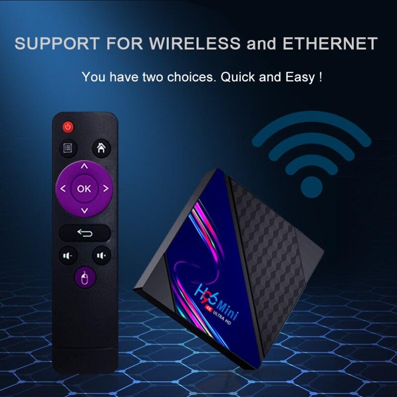 H96 Android 10.0 8GB 16GB TV BOX 4K Netflix Youtube Google 3D Video TV Receiver Wifi Bluetooth TV Box Play Store Set Top Box V8