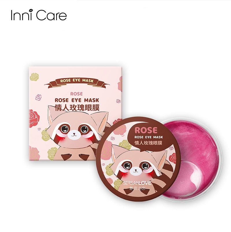 60pcs Rose Eye Mask Collagen Golden Eye Patch Anti Puffy Wrinkle Dark Circles Caviar Moisturizing Deep Nourishing Mild Skin Care недорого