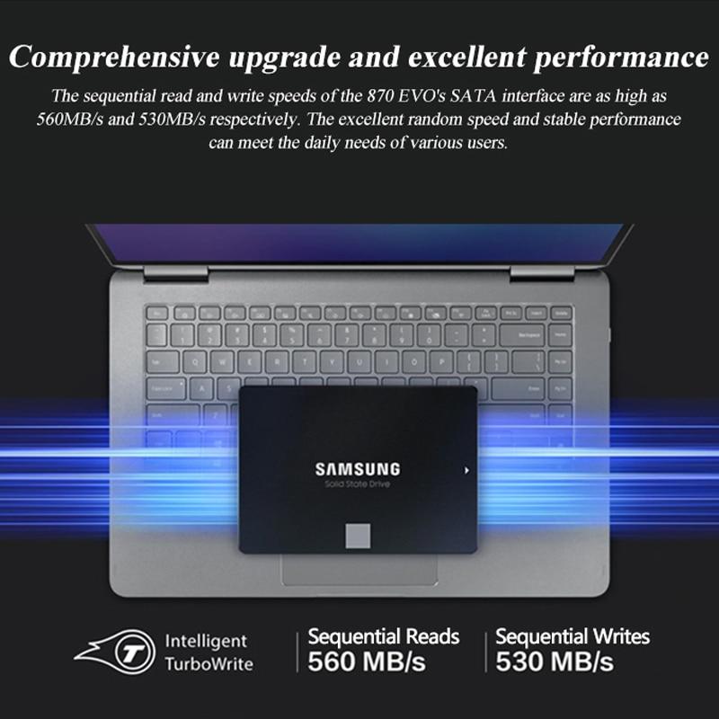 SAMSUNG SSD 870 EVO 250GB 500GB Internal Solid State Disk HDD Hard Drive SATA 2.5 250 GB 1TB 2TB Inch Laptop Desktop PC enlarge