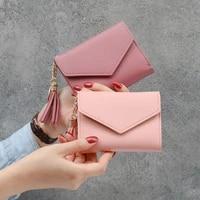 women fashion tassel hasp wallet casual hand bag bill change purse coin pocket credit bank id card holders case handbag xb694
