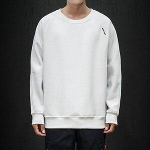 EL BARCO/Плотные хлопковые теплые толстовки с капюшоном для мужчин; зимняя мягкая мужская футболка; цвет черный, синий; куртки Harajuku с круглым вы...