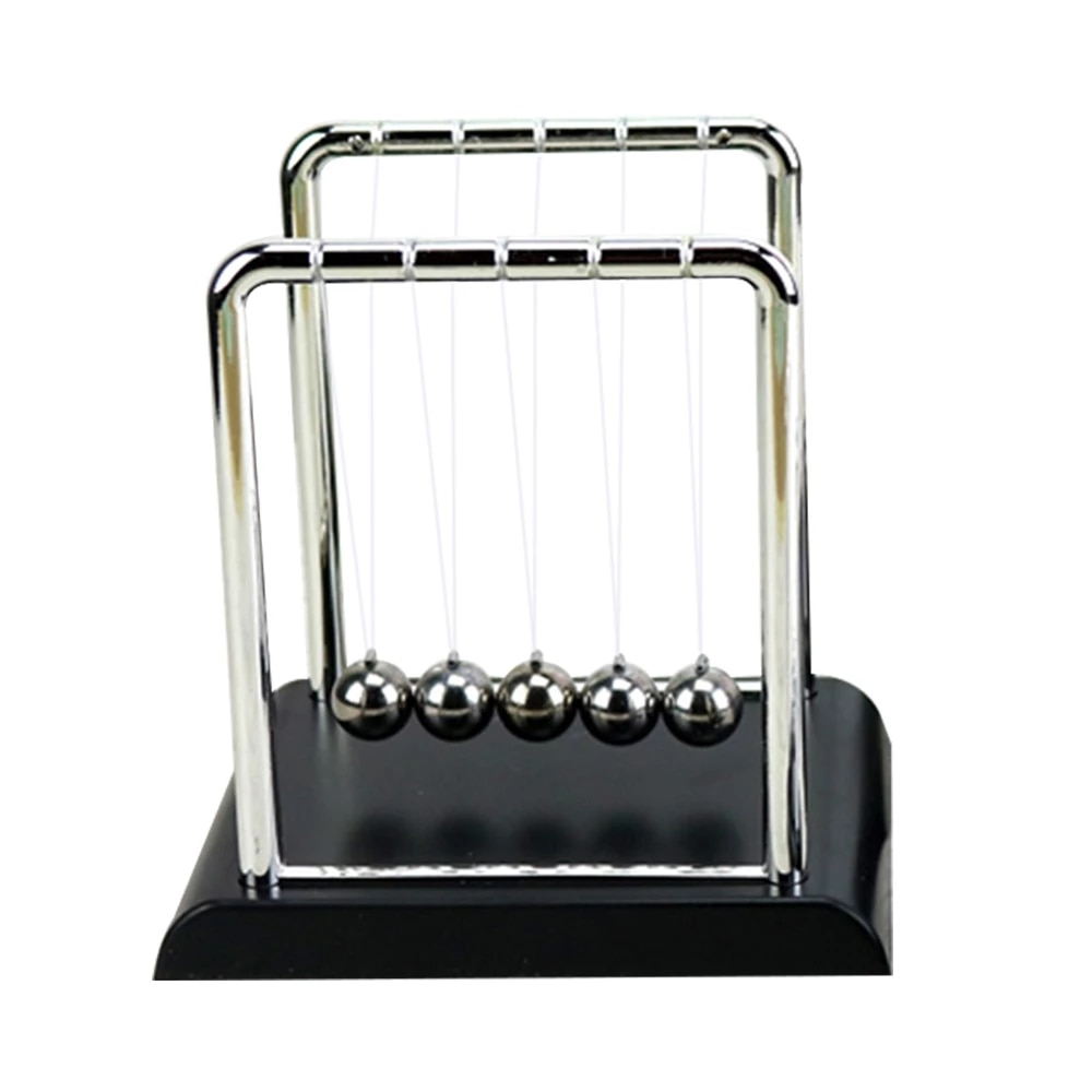 2021 New Early Fun Development Educational Desk Toy Gift Newtons Cradle Steel Balance Ball Physics Science Pendulum Toy Gift
