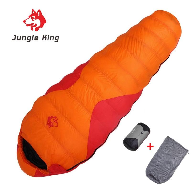 Jungle King New CY660 Sleeping Bag 90% White Duck Down Mummy Camping Sleeping Bag Cold Winter Hiking Travel Camping Splicing