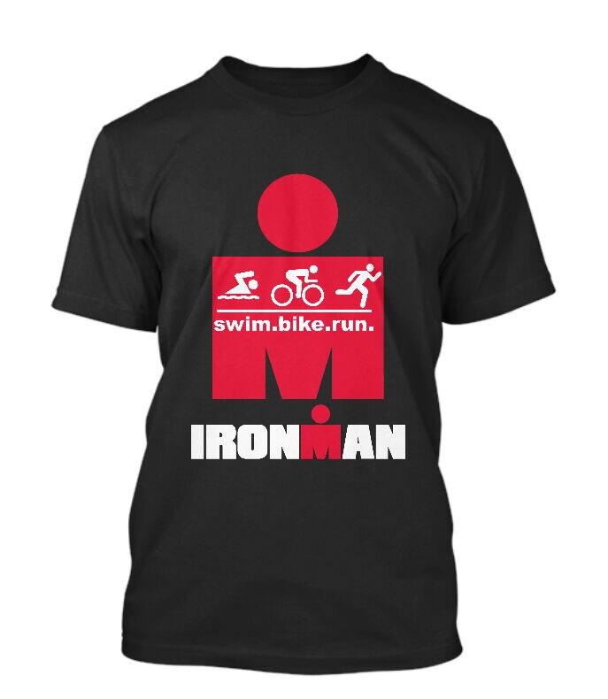IRONMAN, triatlón FINISHER, ciclismo, correr, nadar, ropa deportiva gimnasio, camiseta negra, hombres, mujeres, moda, camiseta de talla grande