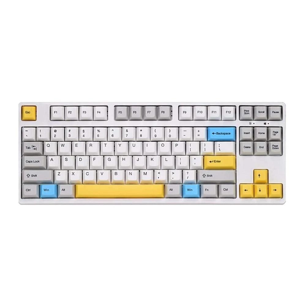 Olá ganss gs87d 87 teclas teclado mecânico bluetooth para windows mac gaming cherry mx comuta mac os tipo suportado cabo c