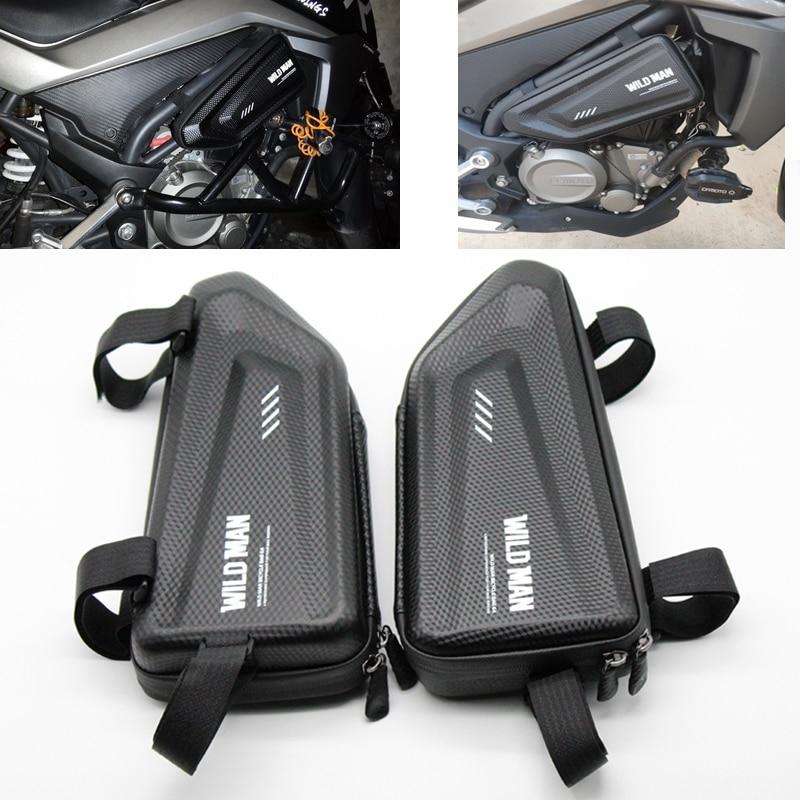 Para triumph speed triple/r scrambler tiger 800/xc 1050 1200 pacote lateral da motocicleta modificado casca dura triângulo saco kit