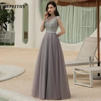 bepeithy gray evening dresses long luxury 2021 elegant dubai arabic crystal a line formal party gown for plus size women new
