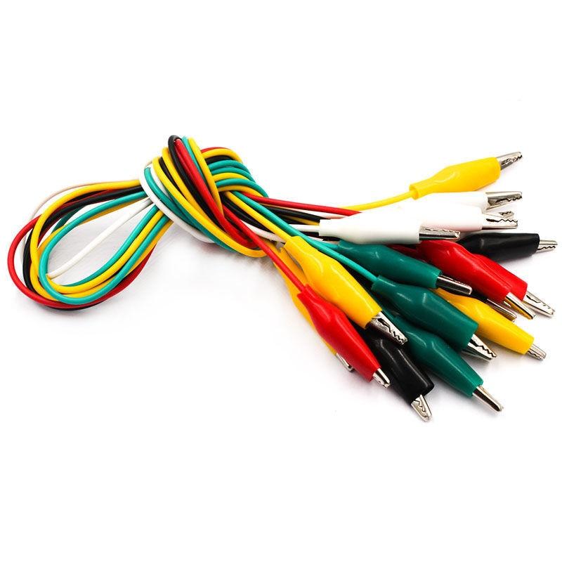 10 шт., зажимы типа «крокодил» 50 см, двусторонние зажимы для кабель с зажимами типа